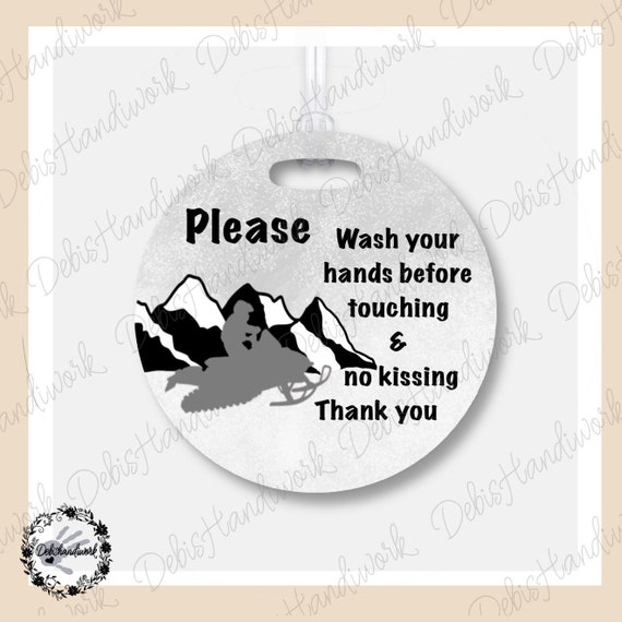 Your Germs Are Too Big For Me No Touching Baby Warning Germs Sign Pushchair Sign Baby and Preemie Warning Sign