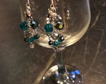 Stormy Sea Celestial Crystal Earrings