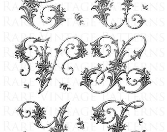 Printable Art Nouveau Floral Embroidery Pattern Hand Etsy