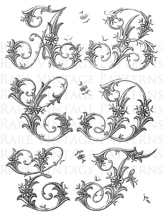 ALFABETO francés 1 Letras Stencil iniciales A-B-C-D-E-F Jpg | Etsy