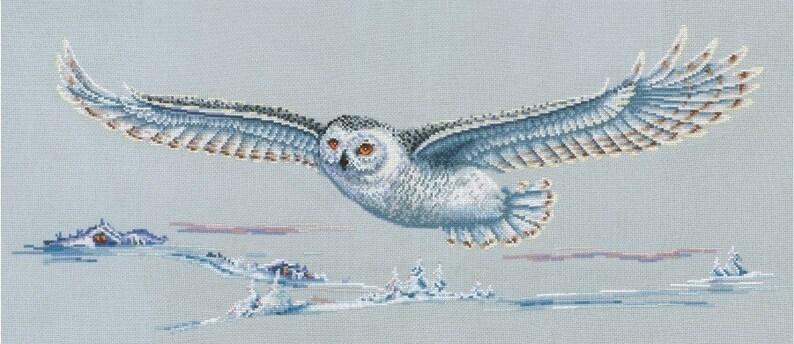 Polar Owl SANP-47  Cross Stitch Kit by Andriana image 0