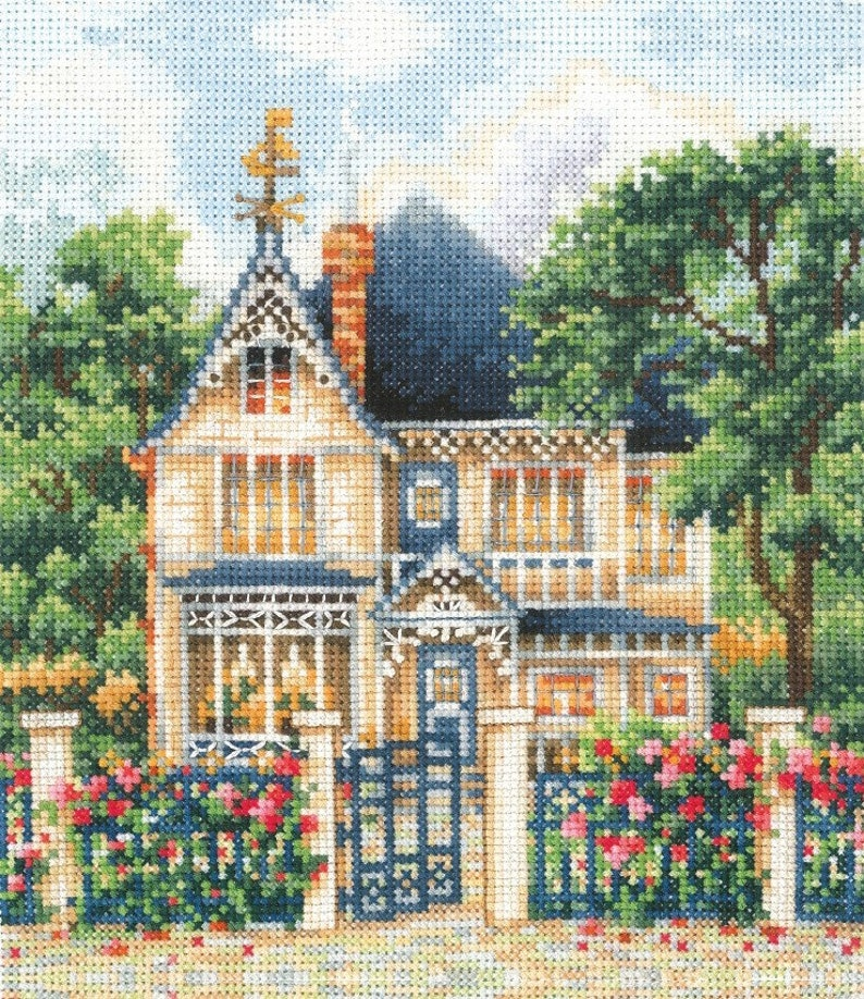 Country House SANZ-36  Cross Stitch Kit by Andriana image 0