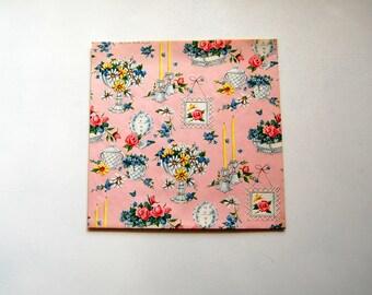 Mid-Century Bridal Shower/Wedding/Feminine Wrapping Paper, Vintage Gift Wrap