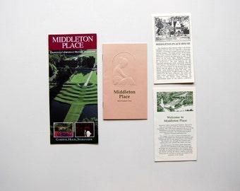 Middleton Place Plantation Vintage Travel Ephemera Kit, Charleston, SC, 4 Pieces