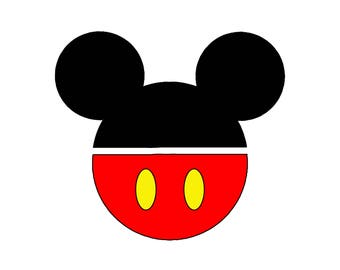 Mickey Template | 5 H String Art Mickey Mouse Pattern Template Etsy
