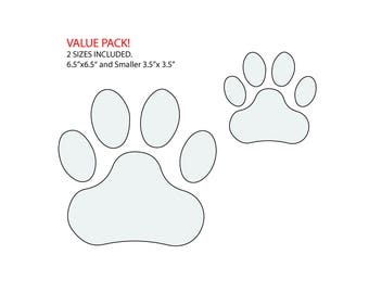 Paw Print VALUE pack String Art 2 Paw Print COMBO  Pattern / Template