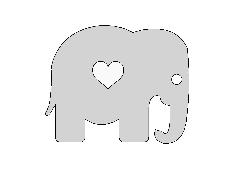 7 Inch Wide String Art Cute Elephant with Heart Pattern /   Etsy