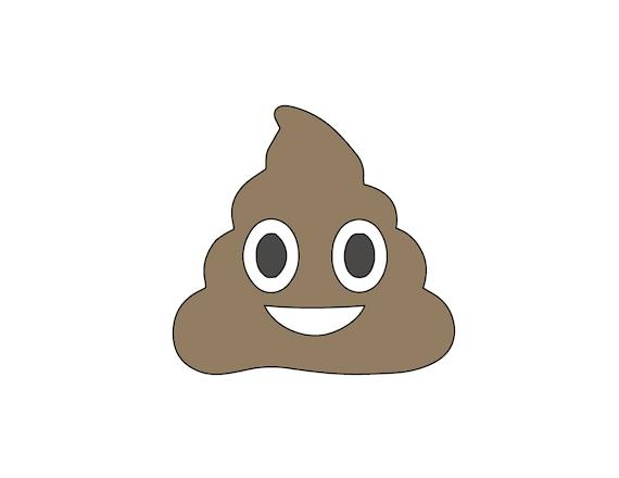 W String Art POOP Emoji Pattern Template Emoji - Poop emoji template