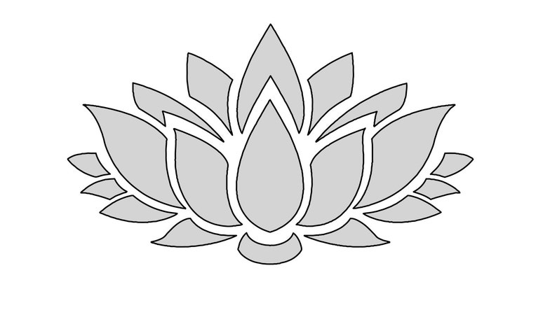 8 W String Art Lotus Flower Pattern Template Etsy