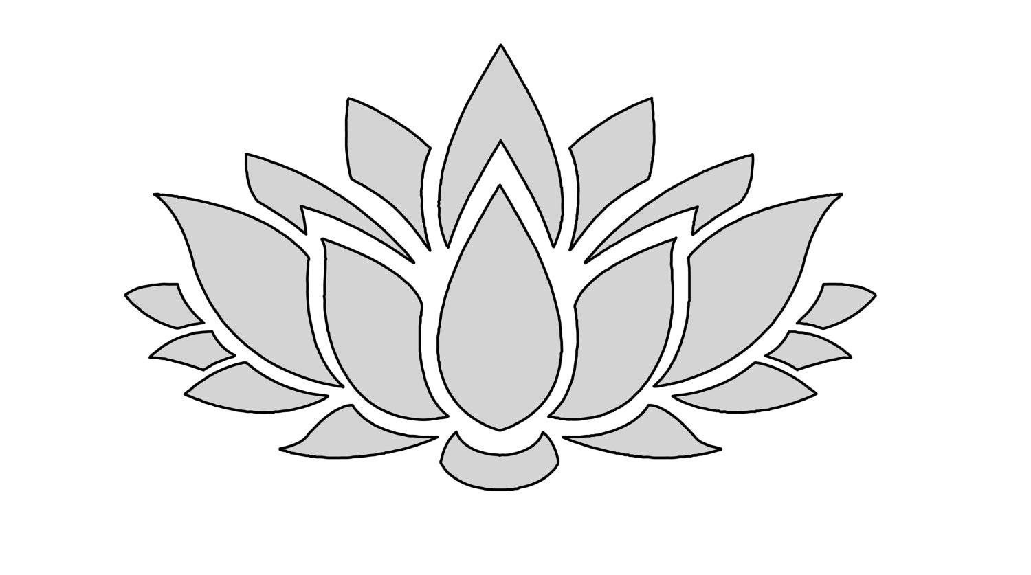 8 W String Art Lotus Flower Pattern Template