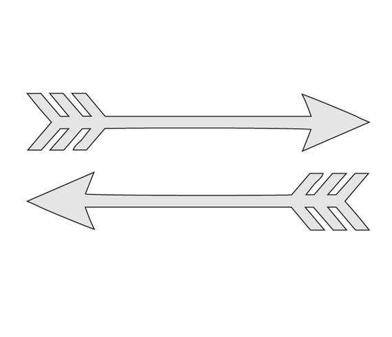 This is a graphic of Resource Printable Arrow Template