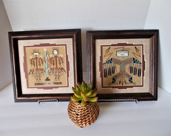 A Pair Of Vintage Art Vintage Wall Art Native American Art Navajo Art  Southwest Art Southwest Decor American Southwest Decor