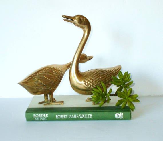 Brass Geese Brass Animals Animal Statues Brass Home Decor