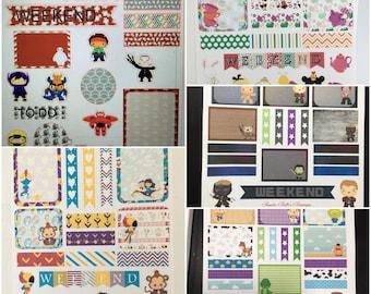 Disney inspired week theme stickers set For Planner, Erin Condren, Filofax, Scrapbooking