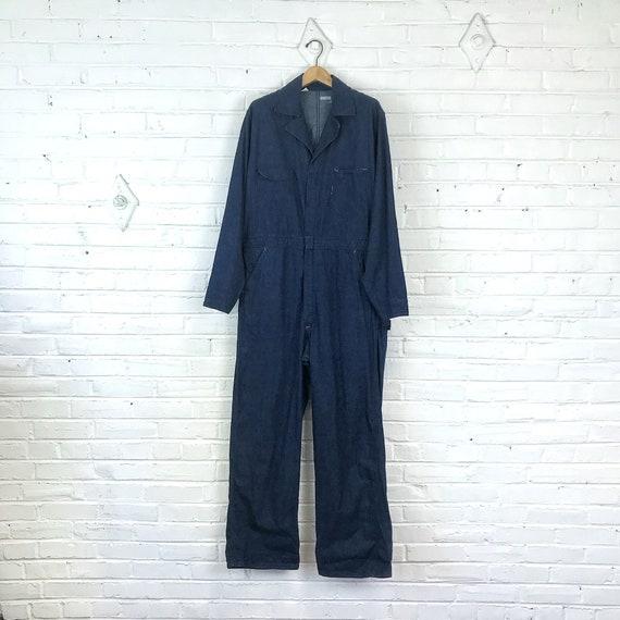 Size 44 Long Vintage 1950s Men's Dark Denim Covera