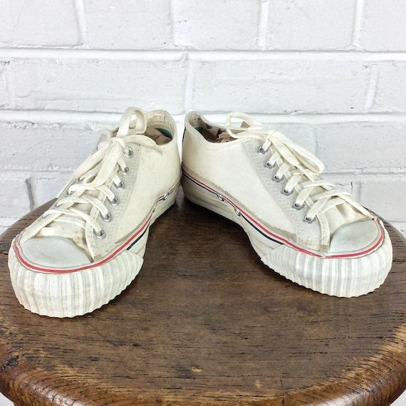 Vintage PF Flyers Canvas Sneaker White Kids/' Size 13 bag#6