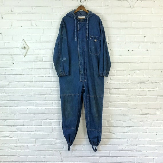 Size 42 Vintage 1960s Denim Protective Coverall Su