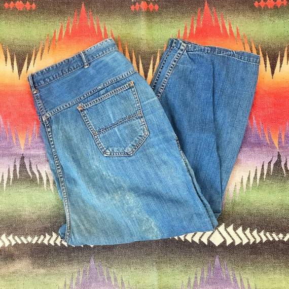 Size 36/37x22 Vintage Women's 1950s Side Zip Denim
