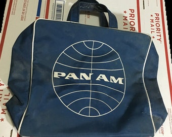 Original vintage c. 1960s Pan Am American Airlines Carry On Bag - from the  legendary US airline and from the Golden Age of Jet travel 998fc8a562779