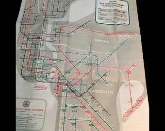Mta Subway Map Permission Of Usage.Vintage Subway Map Etsy