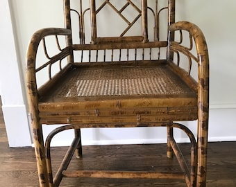 Merveilleux Scorched Bamboo Style Brighton Chair