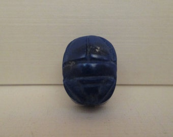 Lapis Carved Scarab