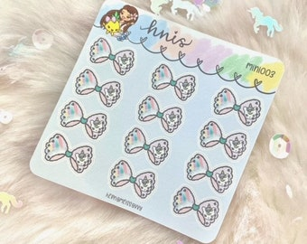 MINI003 - Cozy Bows (12 Stickers) || Ready To Ship || hernameisSavvy || Premium Sticker Paper | Planner Stickers || handlettered