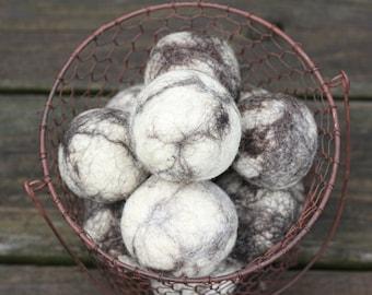 Wool Dryer Ball Cottagecore Decor Set of 3