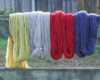 Tunis Yarn Worsted Weight Naturally Dyed