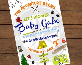 Camping Outdoor Baby Shower Invite