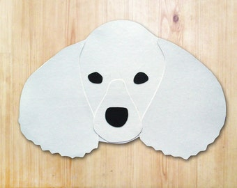 Poodle Dog Head Greeting Card - Blank