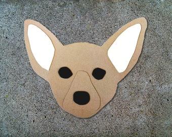 Chihuahua Dog Head Greeting Card - Blank