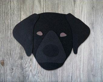 Labrador Retriever Dog Head Greeting Card - Blank