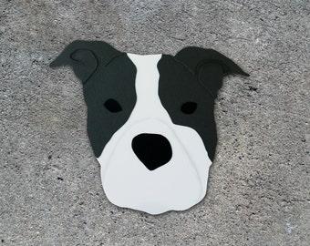 Pit Bull Dog Head Greeting Card - Blank