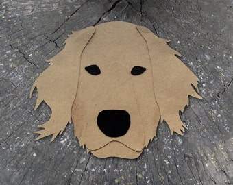 Golden Retriever Dog Head Greeting Card - Blank