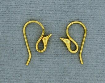vermeil earring circle earring finding earring finding earring component 2PC vermeil 925 sterling silver earring finding component