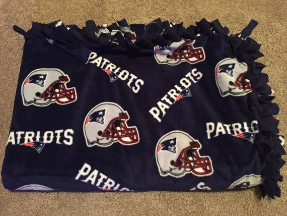 e8504f238 New England Patriots Quilt Fleece No Sew Blanket NFL Tie
