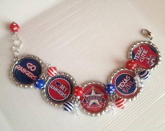 Texas Rangers Bracelet