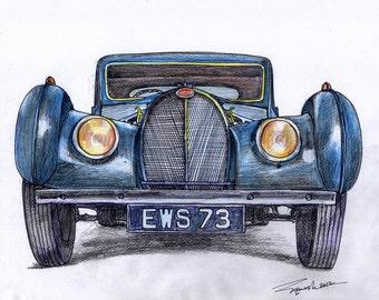 28d24420267 002-1937 Bugatti Type57S Atalante(Front View)