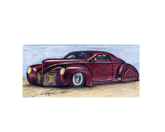 034 1939 Lincoln Zephyr Custom Scrape In Color Etsy