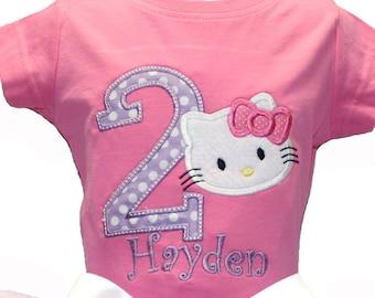 Hello Kitty Inspired Birthday Shirt Or Onesie