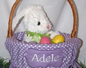 Monogrammed Easter Basket Liner - Large
