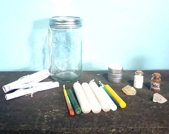 Spell Kit: Money, Job, & Luck. A DIY magic spell kit for everyone. Beginner friendly. Great gift for pagans, witches, Wiccans, the curious.
