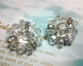 vintage costume jewelry earring crystal