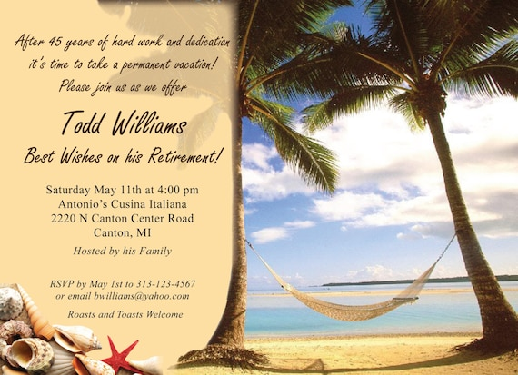 Lively image with regard to free printable retirement party invitations