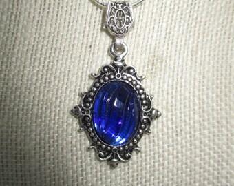 Blue Cameo Pendant