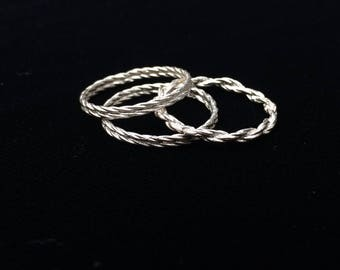 Twisted Stack Rings