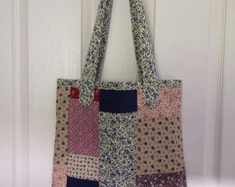 Patchwork market bag, fully lined. Great gift