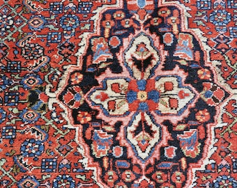 Antique Hosseinabad Rug -- 10 ft. 3 in. by 5 ft. 3 in.