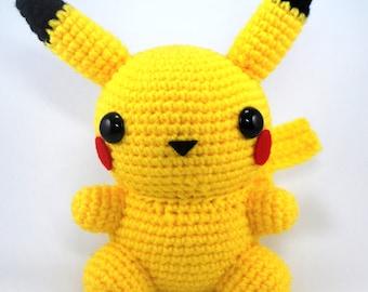 Crochet Pattern: Amigurumi Chubby Pikachu
